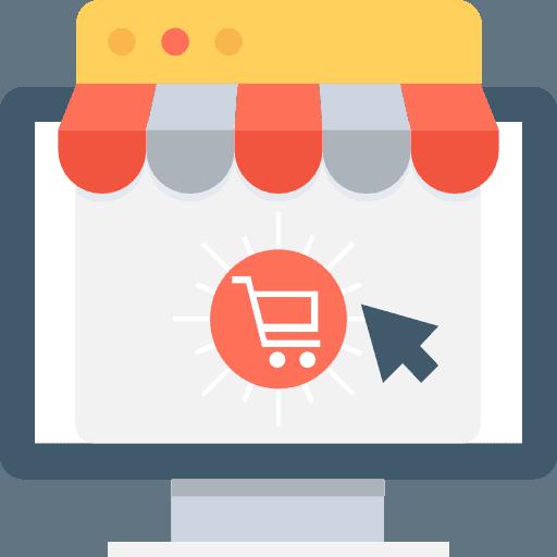 icone d'un site web e-commerce
