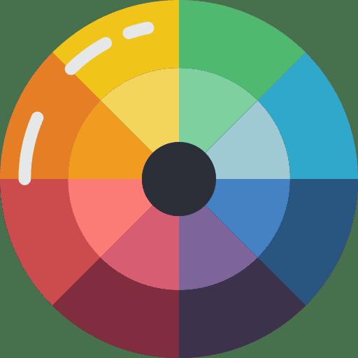 icone choix des couleurs dans une charte graphique