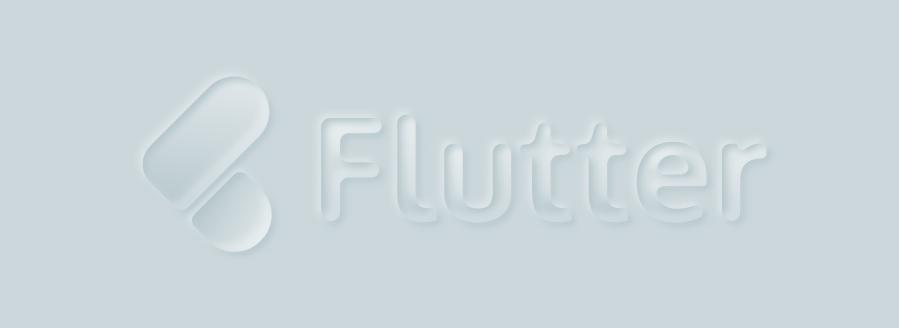 logo flutter en nemorphism design