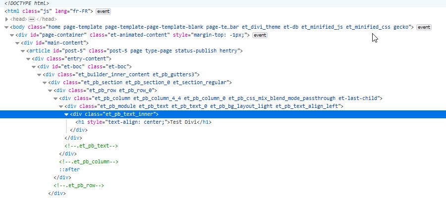 wordpres code divi