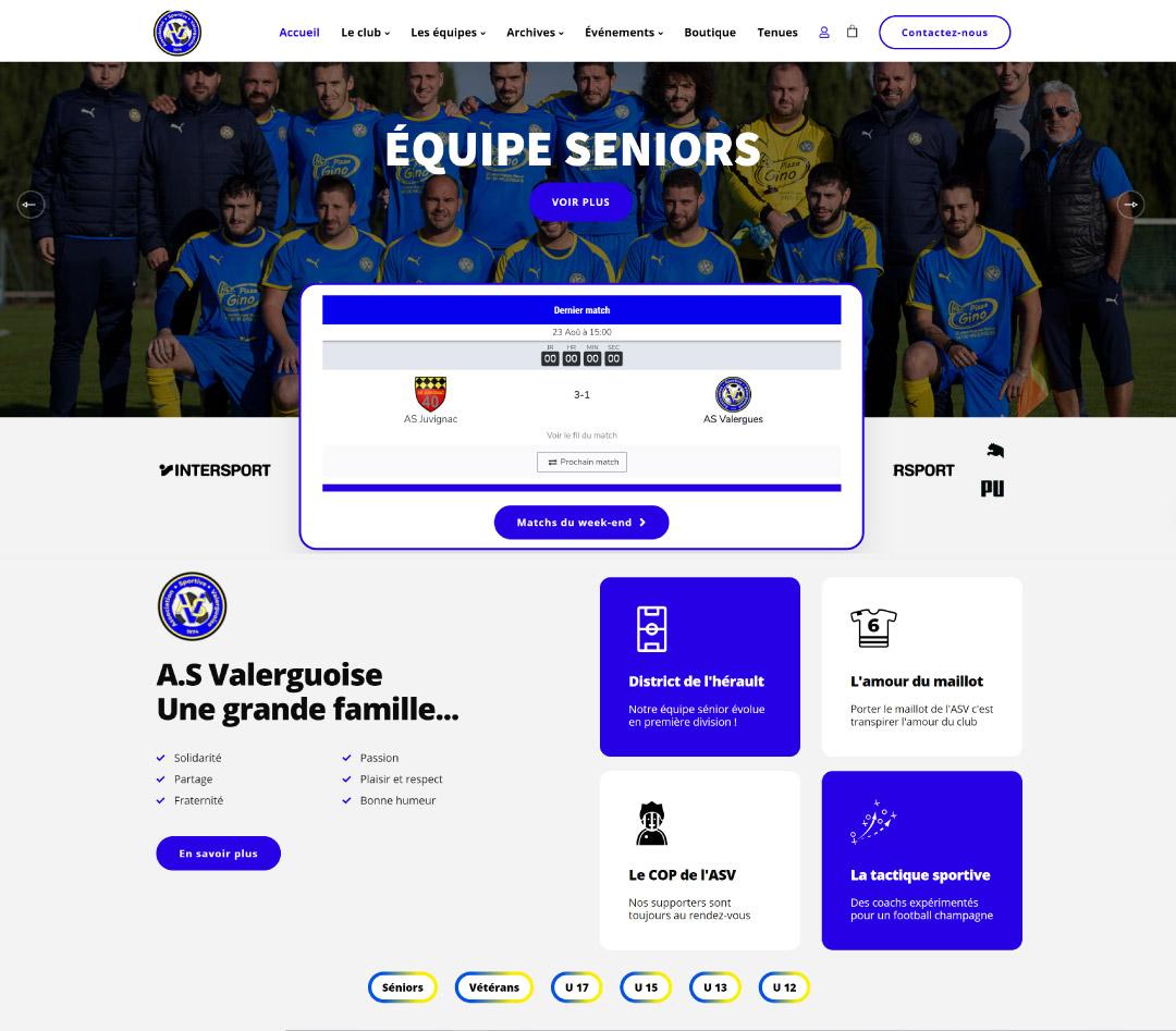 site web as valergues