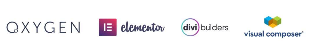 logo oxygen elementor divi et visual composer